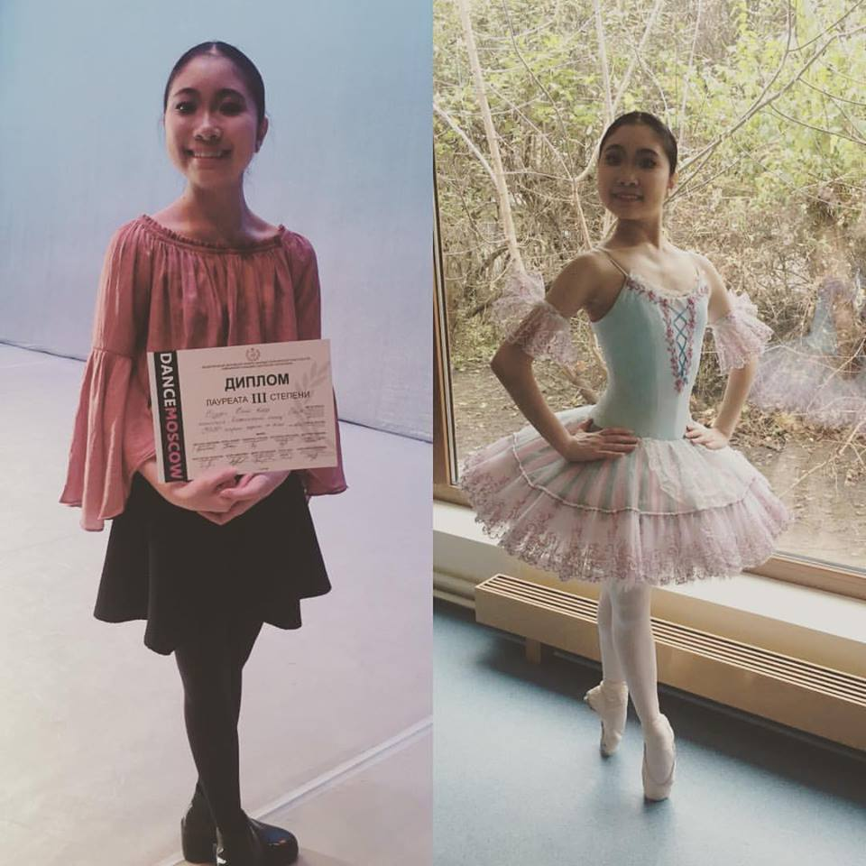 Congratulations toSana Suzuki getting a 3rd place on Dance Moscow Competition.